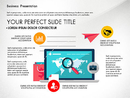Illustrative Pitch Deck, Slide 4, 03174, Presentation Templates — PoweredTemplate.com