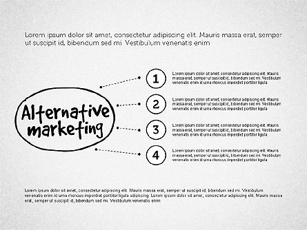 Guerrilla Marketing Diagram, Slide 4, 03177, Business Models — PoweredTemplate.com