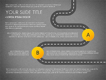 Road Junctions Toolbox, Slide 11, 03178, Process Diagrams — PoweredTemplate.com