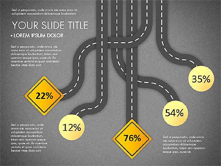 Road Junctions Toolbox, Slide 14, 03178, Process Diagrams — PoweredTemplate.com