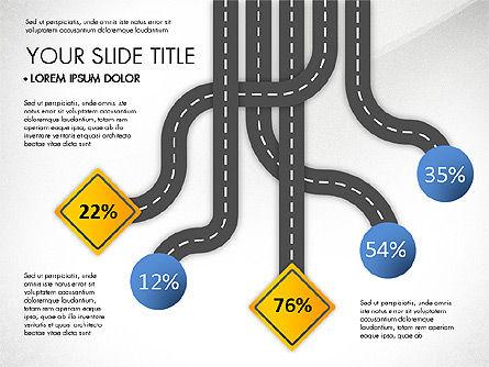 Road Junctions Toolbox, Slide 6, 03178, Process Diagrams — PoweredTemplate.com