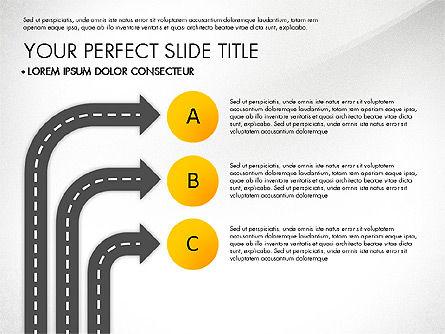Road Junctions Toolbox, Slide 7, 03178, Process Diagrams — PoweredTemplate.com