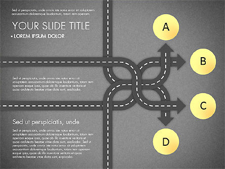Road Junctions Toolbox, Slide 9, 03178, Process Diagrams — PoweredTemplate.com