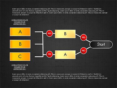 Block Diagram, Slide 10, 03179, Flow Charts — PoweredTemplate.com