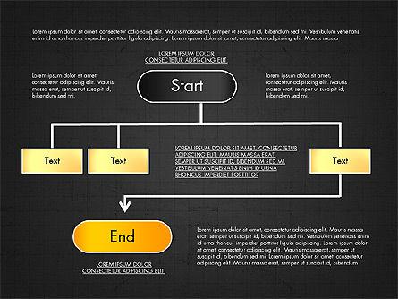 Block Diagram, Slide 11, 03179, Flow Charts — PoweredTemplate.com