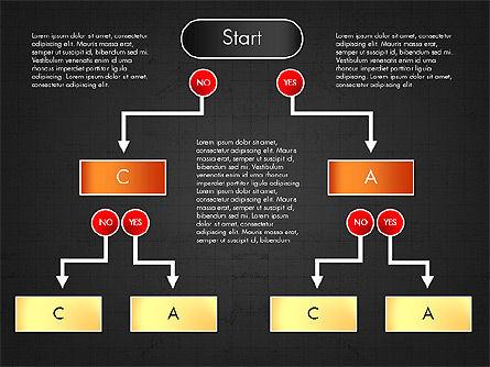 Block Diagram, Slide 12, 03179, Flow Charts — PoweredTemplate.com