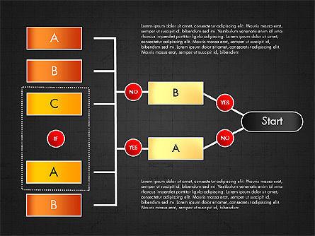 Block Diagram, Slide 13, 03179, Flow Charts — PoweredTemplate.com