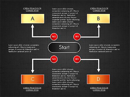 Block Diagram, Slide 16, 03179, Flow Charts — PoweredTemplate.com