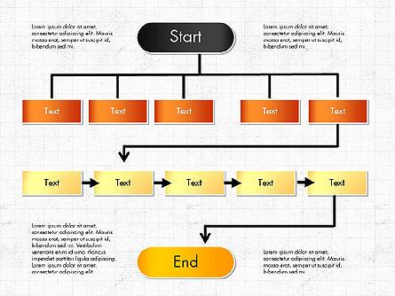 Block Diagram, Slide 6, 03179, Flow Charts — PoweredTemplate.com