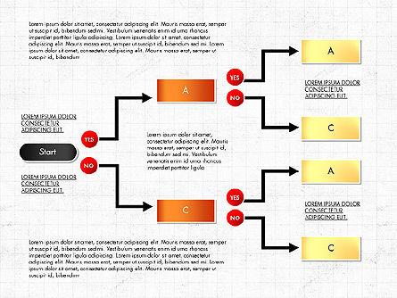 Block Diagram, Slide 7, 03179, Flow Charts — PoweredTemplate.com