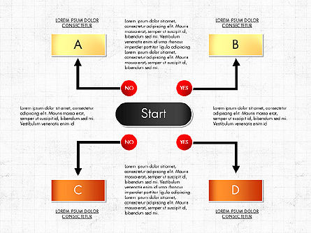 Block Diagram, Slide 8, 03179, Flow Charts — PoweredTemplate.com