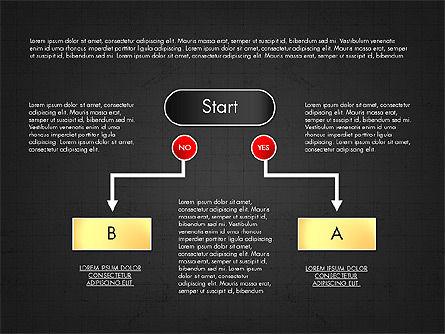 Block Diagram, Slide 9, 03179, Flow Charts — PoweredTemplate.com
