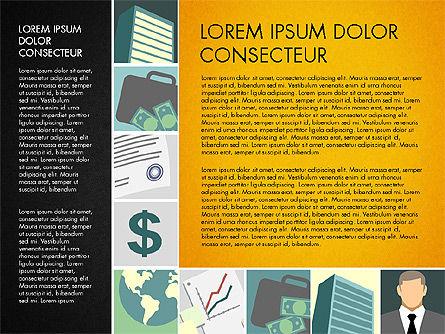 Presentation with Business Illustrations, Slide 12, 03183, Presentation Templates — PoweredTemplate.com