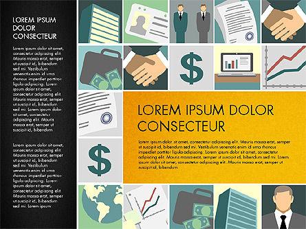 Presentation with Business Illustrations, Slide 13, 03183, Presentation Templates — PoweredTemplate.com