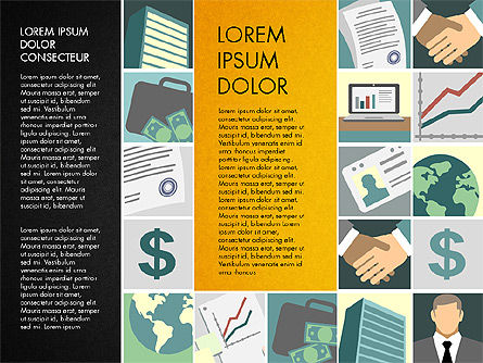 Presentation with Business Illustrations, Slide 15, 03183, Presentation Templates — PoweredTemplate.com