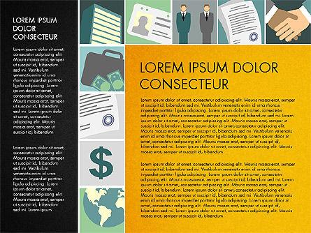 Presentation with Business Illustrations, Slide 16, 03183, Presentation Templates — PoweredTemplate.com