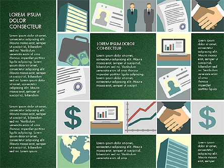 Presentation with Business Illustrations, Slide 6, 03183, Presentation Templates — PoweredTemplate.com