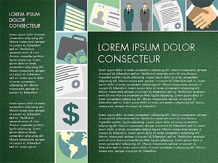 Presentation with Business Illustrations, Slide 8, 03183, Presentation Templates — PoweredTemplate.com