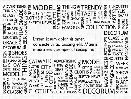 Fashion Word Cloud Presentation Concept, 03184, Presentation Templates — PoweredTemplate.com