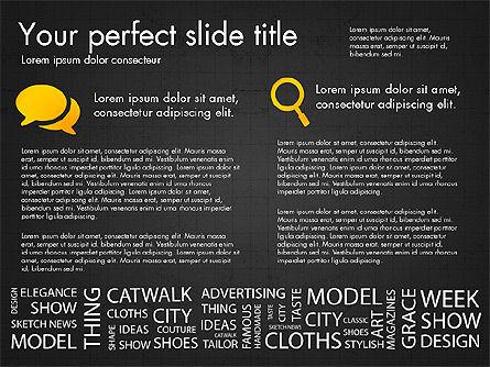 Fashion Word Cloud Presentation Concept, Slide 10, 03184, Presentation Templates — PoweredTemplate.com