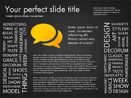 Fashion Word Cloud Presentation Concept, Slide 11, 03184, Presentation Templates — PoweredTemplate.com