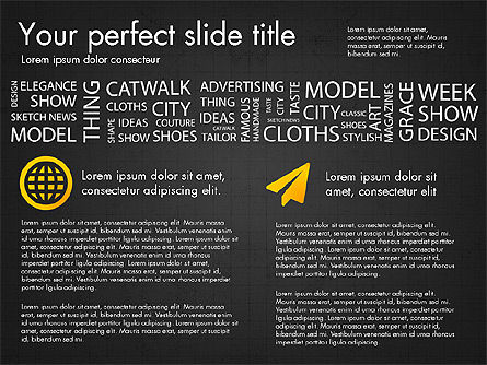 Fashion Word Cloud Presentation Concept, Slide 12, 03184, Presentation Templates — PoweredTemplate.com