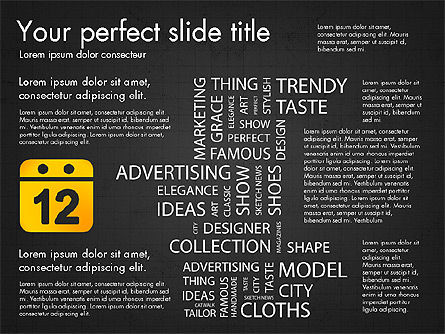 Fashion Word Cloud Presentation Concept, Slide 13, 03184, Presentation Templates — PoweredTemplate.com
