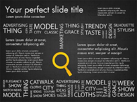 Fashion Word Cloud Presentation Concept, Slide 14, 03184, Presentation Templates — PoweredTemplate.com
