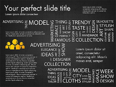Fashion Word Cloud Presentation Concept, Slide 15, 03184, Presentation Templates — PoweredTemplate.com