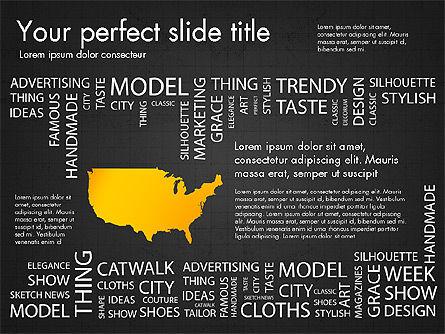 Fashion Word Cloud Presentation Concept, Slide 16, 03184, Presentation Templates — PoweredTemplate.com