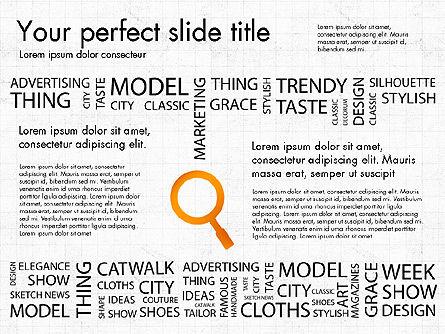 Fashion Word Cloud Presentation Concept, Slide 6, 03184, Presentation Templates — PoweredTemplate.com