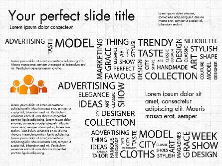 Fashion Word Cloud Presentation Concept, Slide 7, 03184, Presentation Templates — PoweredTemplate.com