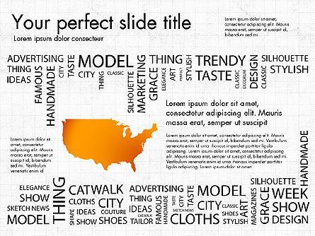 Fashion Word Cloud Presentation Concept, Slide 8, 03184, Presentation Templates — PoweredTemplate.com