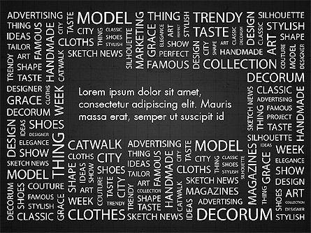 Fashion Word Cloud Presentation Concept, Slide 9, 03184, Presentation Templates — PoweredTemplate.com
