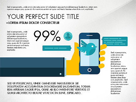 Mobile Application Presentation Template, 03186, Presentation Templates — PoweredTemplate.com