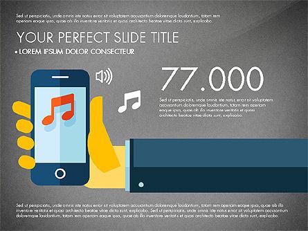 Mobile Application Presentation Template, Slide 12, 03186, Presentation Templates — PoweredTemplate.com