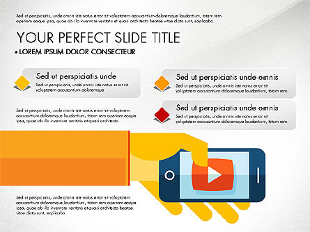 Mobile Application Presentation Template, Slide 2, 03186, Presentation Templates — PoweredTemplate.com
