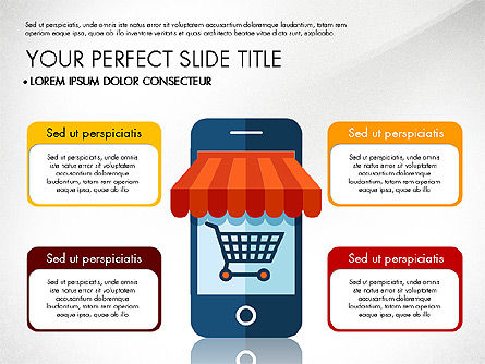 Mobile Application Presentation Template, Slide 3, 03186, Presentation Templates — PoweredTemplate.com