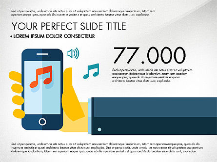 Mobile Application Presentation Template, Slide 4, 03186, Presentation Templates — PoweredTemplate.com