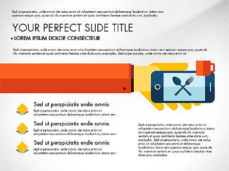 Mobile Application Presentation Template, Slide 8, 03186, Presentation Templates — PoweredTemplate.com