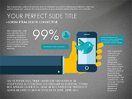 Mobile Application Presentation Template, Slide 9, 03186, Presentation Templates — PoweredTemplate.com