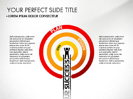 Success Concept Presentation, 03188, Presentation Templates — PoweredTemplate.com