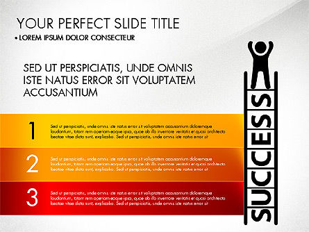 Success Concept Presentation, Slide 8, 03188, Presentation Templates — PoweredTemplate.com