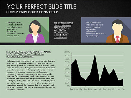 Company Profile with Data Driven Charts, Slide 11, 03189, Presentation Templates — PoweredTemplate.com