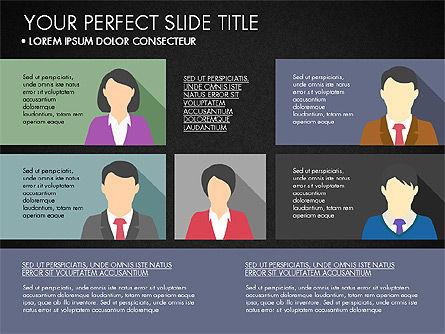 Company Profile with Data Driven Charts, Slide 16, 03189, Presentation Templates — PoweredTemplate.com