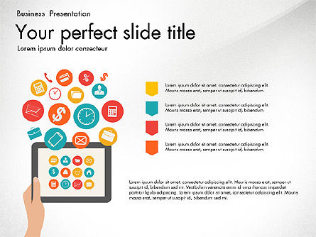 Presentation Templates: Mobile Application Management Presentation Diagram #03191
