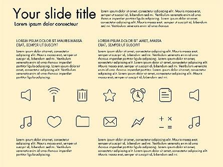 Thin Line Icons, Slide 10, 03192, Icons — PoweredTemplate.com