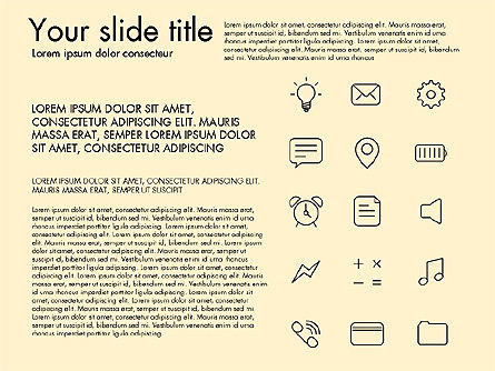 Thin Line Icons, Slide 11, 03192, Icons — PoweredTemplate.com