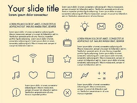 Thin Line Icons, Slide 14, 03192, Icons — PoweredTemplate.com