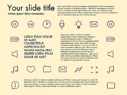Thin Line Icons, Slide 15, 03192, Icons — PoweredTemplate.com